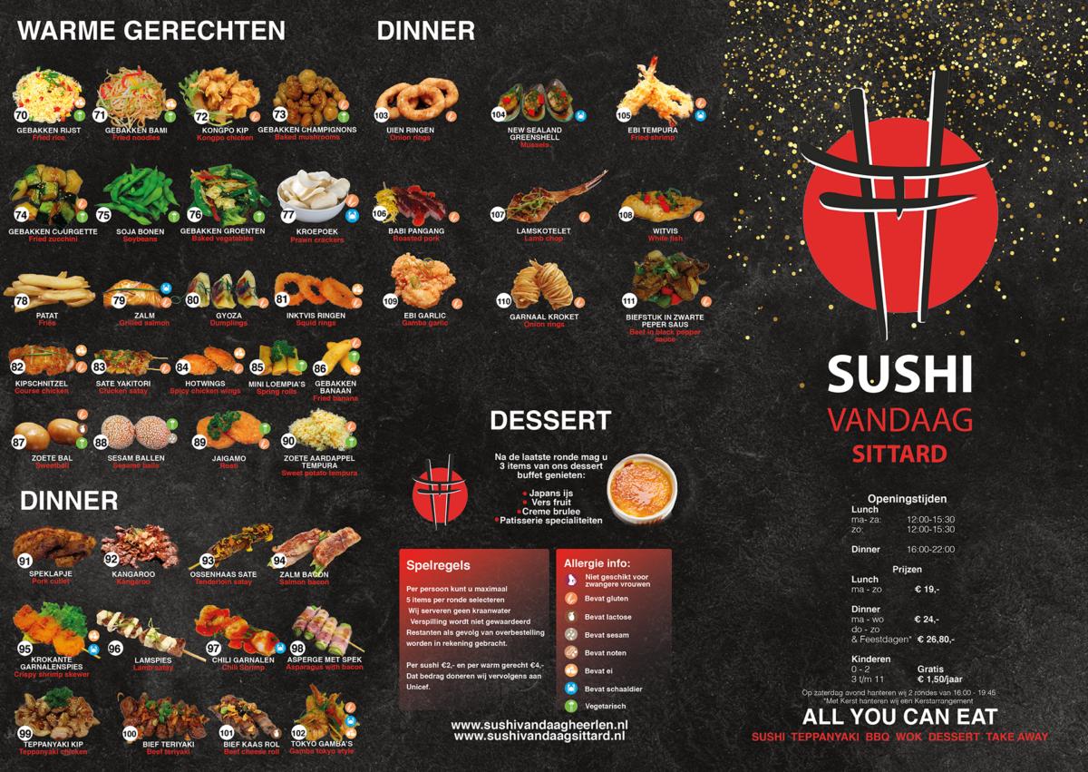Voorkant menu